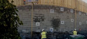 Merthyr Retaining Wall
